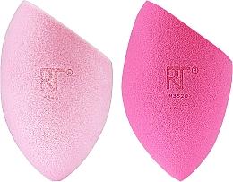 Schminkschwamm pink, hellrosa 2 St. - Real Techniques Miracle Complexion Sponge + Miracle Powder Sponge For Liquid + Powder Makeup 04157 — Bild N2