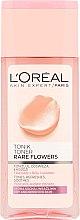 Düfte, Parfümerie und Kosmetik Gesichtstonikum für trockene und empfindliche Haut mit Rosen- und Jasminextrakt - L'Oreal Paris Rare Flowers Tonic Dry and Sensitive Skin