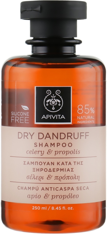 Anti-Schuppen Shampoo mit Sellerie und Propolis - Apivita Shampoo For Dry Dandruff With Celery Propolis
