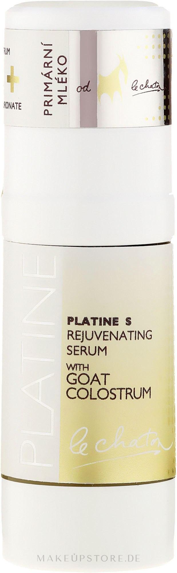 Verüngendes Gesichtsserum mit Ziegenkolostrum - Le Chaton Platine Skin Rejuvenating Serum With Goat Colostrum Platinum — Bild 30 ml