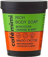 Düfte, Parfümerie und Kosmetik Flüssige Seife mit ätherischem Orangenöl, Minze und Provitamin B5 - Cafe Mimi Soap
