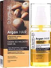 Düfte, Parfümerie und Kosmetik Regenerierendes und schützendes Haaröl mit Argan & Keratin - Dr. Sante Argan Hair