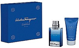 Düfte, Parfümerie und Kosmetik Salvatore Ferragamo Acqua Essenziale Blu - Set(edt/30ml + sh/gel/50ml)