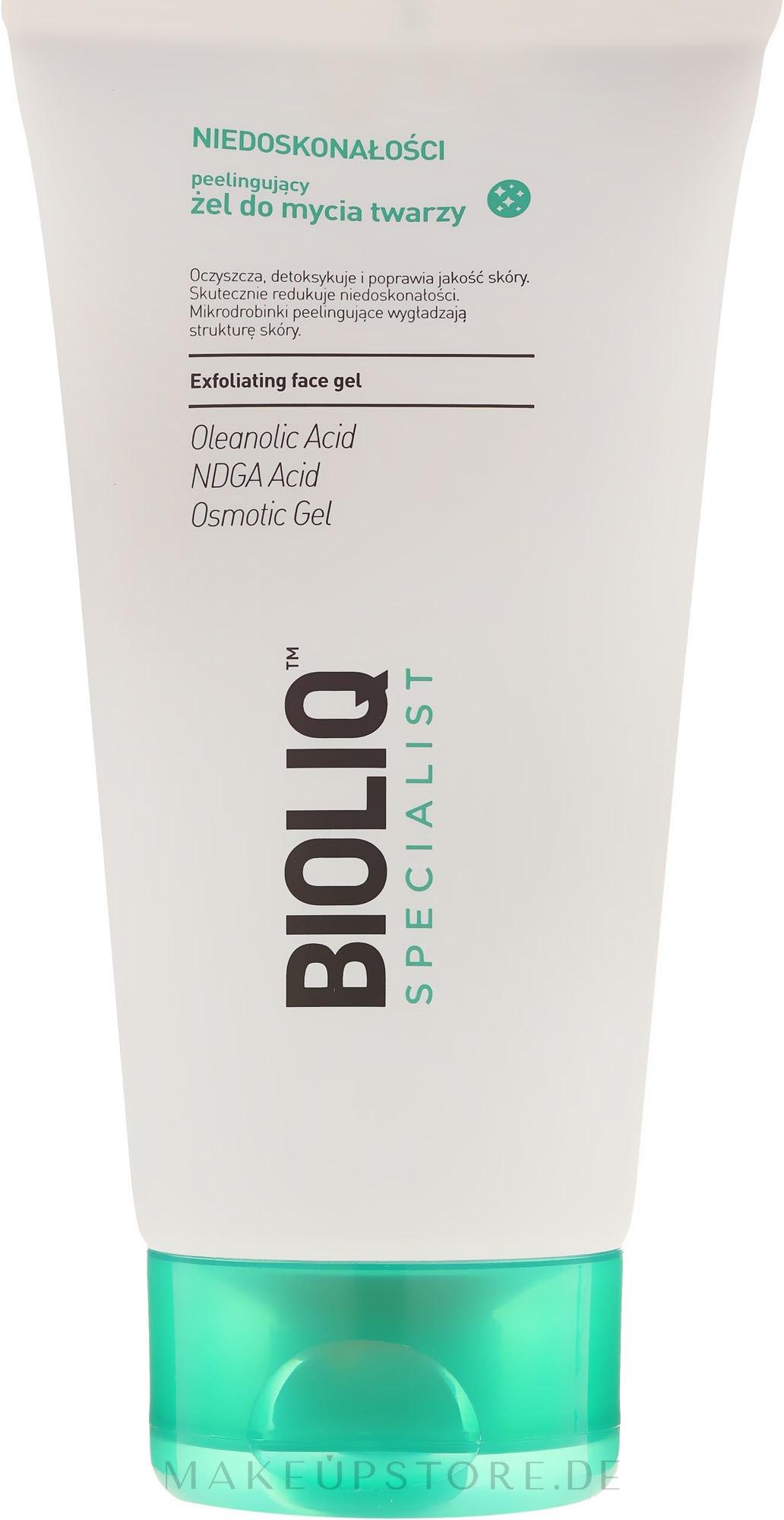 Reinigendes Peeling-Gel für das Gesicht - Bioliq Specialist Exfoliating Face Gel — Bild 125 ml
