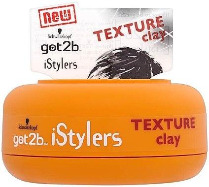 Matt Styling Paste - Schwarzkopf Got2b Istylers Texture Clay — Bild N1