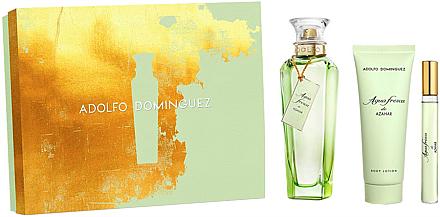 Adolfo Dominguez Agua Fresca de Azahar - Duftset (Eau de Toilette 120ml + Eau de Toilette 10ml + Körperlotion 75ml) — Bild N1