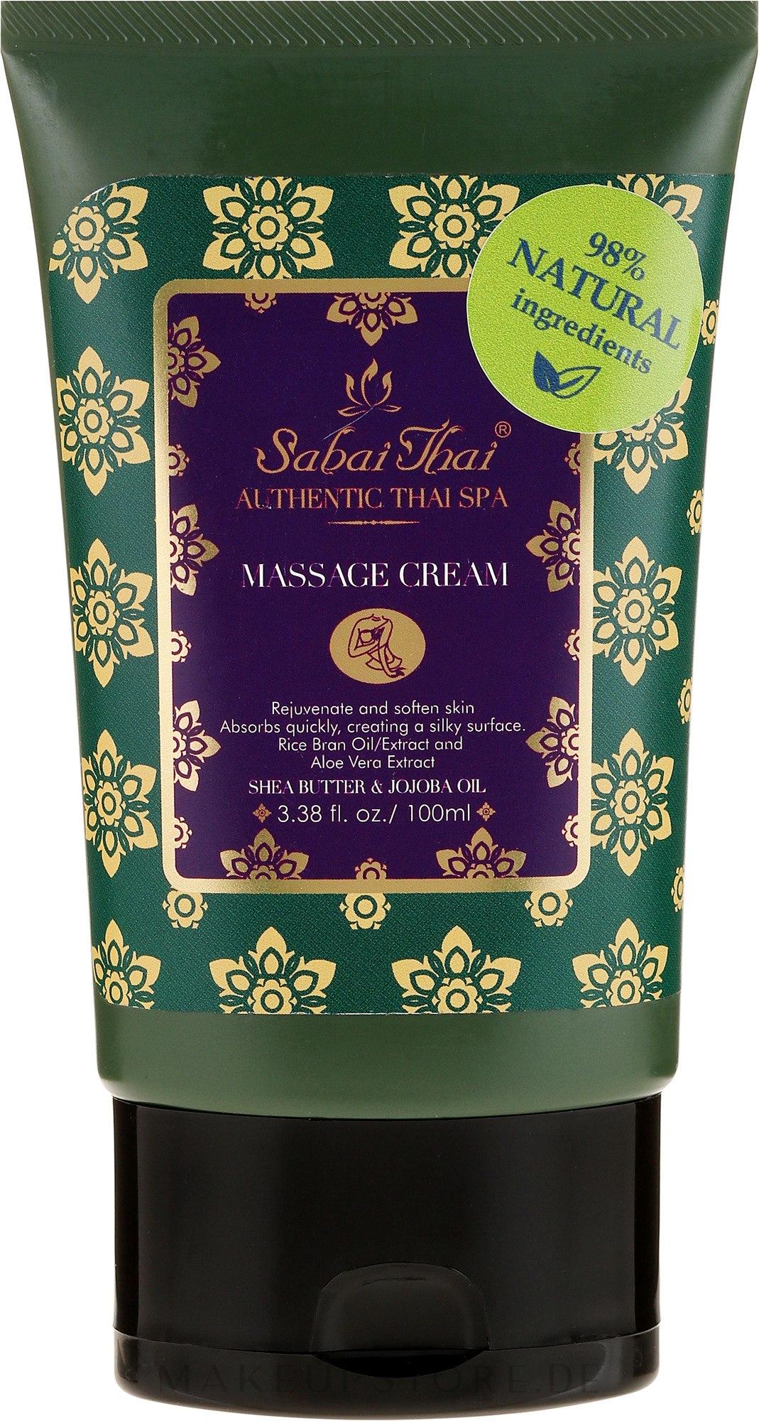 Massagecreme - Sabai Thai Authentic Thai Spa Massage Cream — Bild 100 g