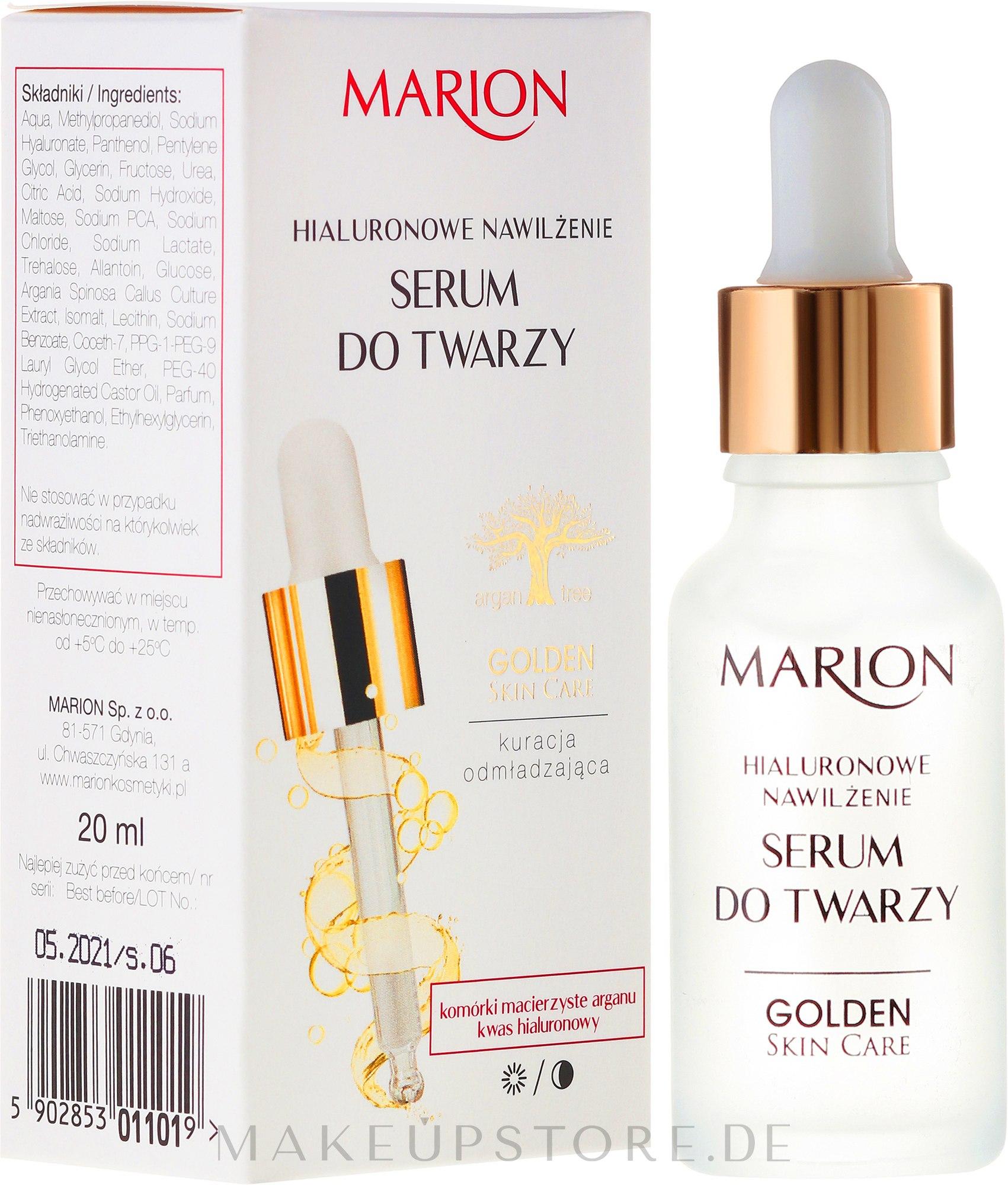 Gesichtsserum mit Hyaluronsäure - Marion Golden Skin Care — Bild 20 ml