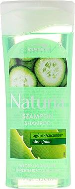 Shampoo für normales und fettiges Haar mit Gurke und Aloe Vera - Joanna Naturia Shampoo Cucumber And Aloe