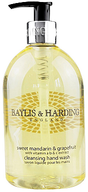 "Flüssige Handseife ""Schöllkraut"" - Baylis & Harding Sweet Mandarin & Grapefruit Hand Wash — Bild N1"