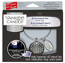 Düfte, Parfümerie und Kosmetik Autoduftanhänger - Yankee Candle Midsummer's Night Geometric Charming Scents Starter Kit (Medaillon + Duftstein + Charm-Anhänger + Band)