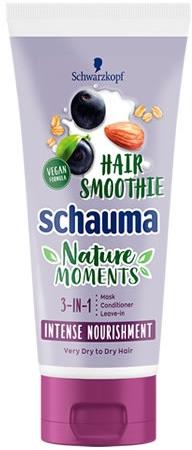 3in1 Intensiv pflegende Haarmaske mit Acai-Beere, Mandel und Hafer - Schwarzkopf Schauma Nature Moments Hair Smoothie 3in1 Intense Nourishment