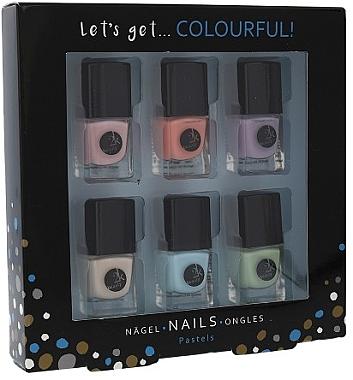 Nagellack-Set 6x5ml - Cosmetic 2K Let's Get Colourful! Pastels Nail Polish  — Bild N1