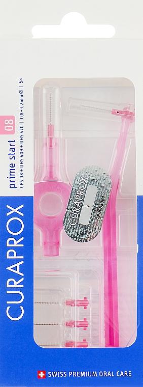Interdentalbürsten-Set mit 2 Halter Prime Start CPS 08S rosa - Curaprox — Bild N1