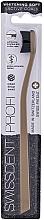 Düfte, Parfümerie und Kosmetik Zahnbürste gold - Swissdent Profi Whitening Active Coal Gold Soft Toothbrush