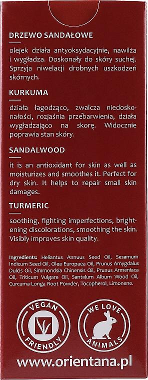 Gesichtsöl mit Kurkuma und Sandelholz - Orientana Face Oil Sandalwood & Turmeric — Bild N3
