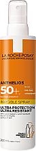Düfte, Parfümerie und Kosmetik Ultra leichtes wasserfestes, schweißresistentes und sandabweisendes Sonnenschutzspray für das Gesicht und Körper SPF 50+ - La Roche-Posay Anthelios Invisible Spray