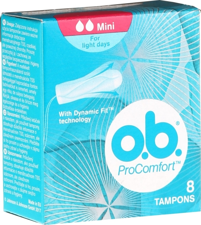 Tampons ProComfort Mini 8 St. - O.b. ProComfort Mini Dynamic Fit Tampons — Bild N1