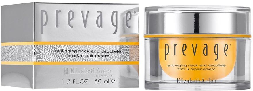 Straffende Pflege für Hals, Dekolleté und die Gesichtskonturen - Elizabeth Arden Prevage Neck and Decollette Firm & Repair Cream — Bild N1