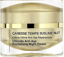 Düfte, Parfümerie und Kosmetik Revitalisierende Anti-Aging Nachtcreme - Qiriness Caresse Temps Sublim Nuit