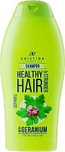Düfte, Parfümerie und Kosmetik Shampoo mit Geranium für kräftiges Haar - Hristina Cosmetics Healthy Hair & Stronger With Geranium Shampoo