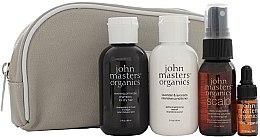 Düfte, Parfümerie und Kosmetik Haarpflegeset - John Masters Organics Essential Travel Kit For Dry Hair (Shampoo 60ml + Conditioner 60ml + Kopfhautbehandlung für mehr Volumen 30ml + Haaröl 3ml + Kosmetiktasche)