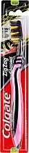 Düfte, Parfümerie und Kosmetik Zahnbürste mit Aktivkohle mittel Zig Zag rosa-schwarz - Colgate