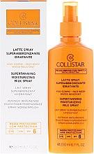 Düfte, Parfümerie und Kosmetik Intensiv bräunende feuchtigkeitsspendende Spray-Sonnenmilch SPF 6 - Collistar Supertanning Moisturing Milk Spray SPF 6 water resistant