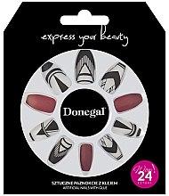 Düfte, Parfümerie und Kosmetik Künstliche Nägel Set rot, weiß 24 St. - Donegal Express Your Beauty