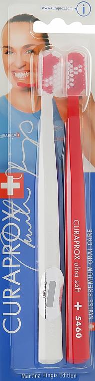 Zahnbürste Duo Martina Hingis weiß, rot 2 St. - Curaprox — Bild N1