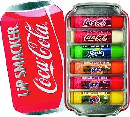 """Lippenbalsam-Set """"Coca-Cola"""" - Lip Smacker Coca-Cola Flavored Lip Gloss Collection (Lippenbalsam/6x4g) — Bild N1"""