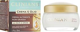 Düfte, Parfümerie und Kosmetik Nährende Gesichtscreme mit Arganöl - Clinians Argan Crema & Olio Cream