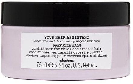 Pflegende Haarspülung - Davines Your Hair Assistant Prep Rich Balm — Bild N2