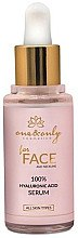 Feuchtigkeitsspendendes Anti-Falten Gesichtsserum mit Hyaluronsäure - One&Only Cosmetics For Face&Neckline 100% Hyaluronic Acid Serum — Bild N2