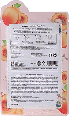 Cellulose-Tuchmaske mit Pfirsichextrakt - Sally's Box Loverecipe Peach Mask — Bild N2
