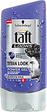 "Haargel ""Titan"" ultimativ straker Halt für Männer - Schwarzkopf Taft Looks Titan Look Power Gel No Stickness-No Residues — Bild N1"