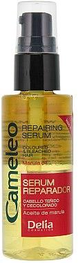 Reparierendes Serum für gefärbtes, aufgehelltes Haar mit Marulaöl ohne Ausspülen - Delia Cameleo Serum — Bild N1
