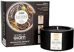 Düfte, Parfümerie und Kosmetik Soja-Duftkerze Black Pepper & Coffee - House of Glam Raw Black Collection Black Pepper & Coffee Candle