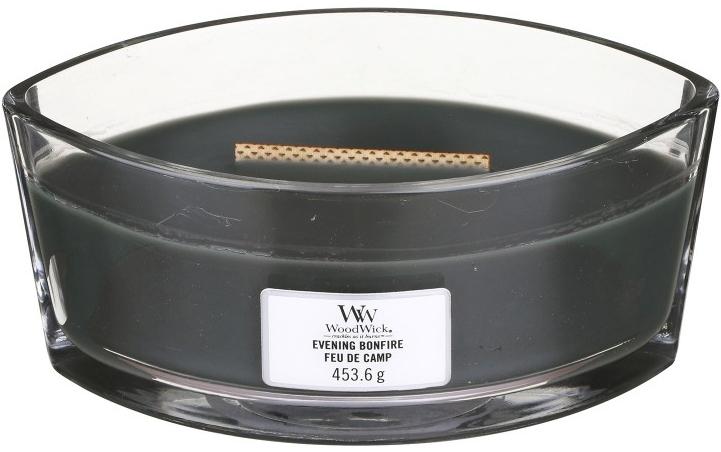 Duftkerze im Glas Evening Bonfire - Woodwick Hearthwick Flame Ellipse Candle Evening Bonfire