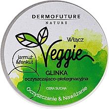 Reinigende und feuchtigkeitsspendende Gesichtspaste für trockene Haut mit Grünkohl, Fenchel und weißem Ton - DermoFuture Veggie Kale & fennel Pasta — Bild N1