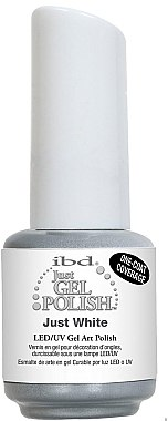 Gelnagellack in weiß - IBD Just Gel Art Polish — Bild N1