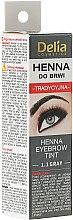 Düfte, Parfümerie und Kosmetik Henna für Augenbrauen grau - Delia Henna Tint Eyebrow Tint