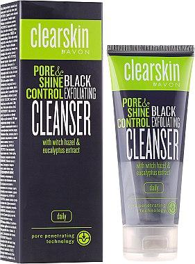 Gesichtsreinigungsmaske zur Porenverfeinerung mit Eukalyptusextrakt - Avon Clearskin Pore&Shine Control Black Exfoliating Cleanser — Bild N1