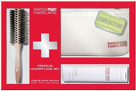 Haarpflegeset - Swiss Haircare Premium Haaprflege W3ks Set I ( Haarbürste + Kosmetiktasche + Shampoo) — Bild N1