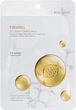 Düfte, Parfümerie und Kosmetik Straffende Tuchmaske mit Kollagen - Beauugreen Essence Mask Firming Collagen