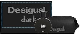 Düfte, Parfümerie und Kosmetik Desigual Dark Man - Duftset (Eau de Toilette 100ml + Kosmetiktasche)