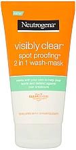 Düfte, Parfümerie und Kosmetik 2in1 Waschmaske für das Gesicht - Neutrogena Visibly Clear Spot Proofing 2-in-1 Wash-Mask  