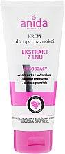 Düfte, Parfümerie und Kosmetik Hand- und Nagelcreme mit Leinenextrakt - Anida Pharmacy Linen Extract Hand Cream