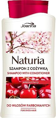 """Shampoo & Conditioner für gefärbtes Haar """"Kirsche"""" - Joanna Naturia Shampoo With Conditioner With Cherry — Bild N1"""