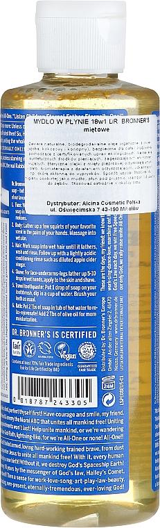 18in1 Flüssigseife mit Pfefferminze für Körper und Hände - Dr. Bronner's 18-in-1 Pure Castile Soap Peppermint — Bild N4